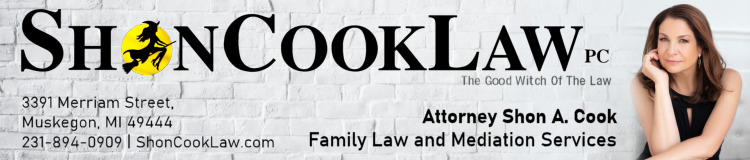 Advertisement - Shon Cook Law - Muskegon Family Law Attorney